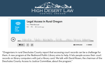 Legal Access in Rural Oregon